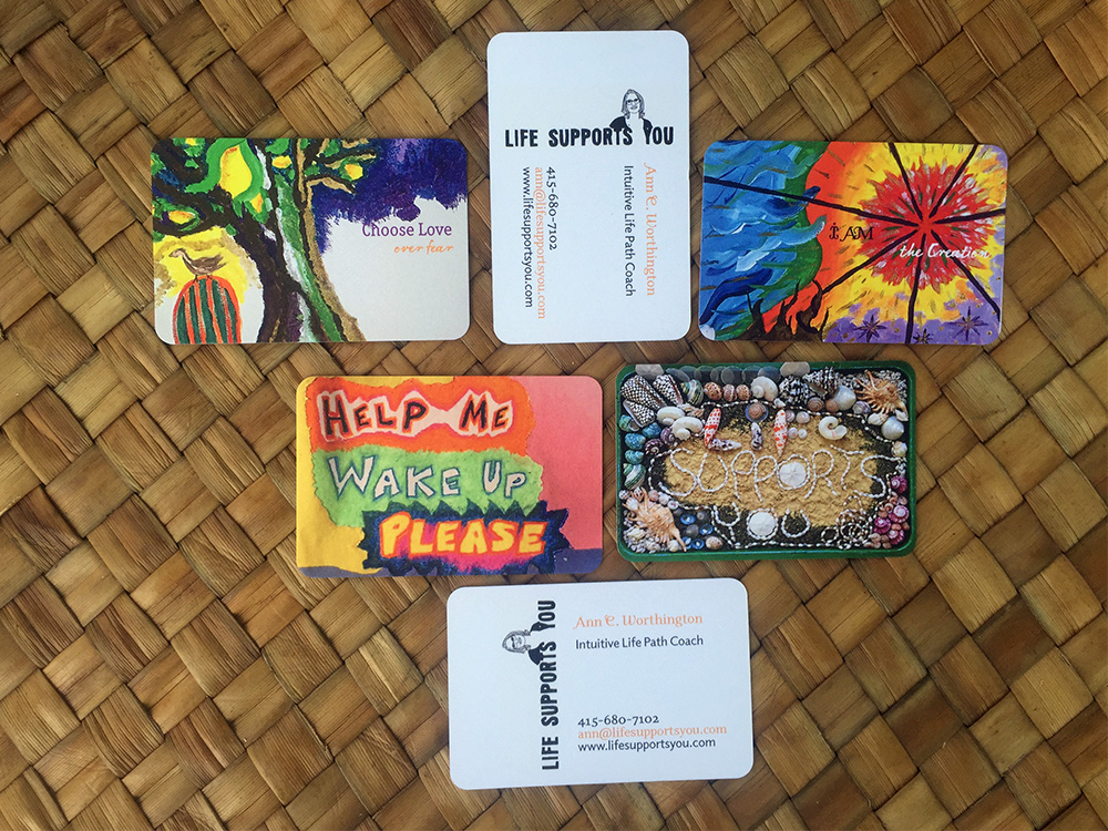 My business cards for Life Supports You arrived!